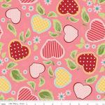 Patchworkstoff Quilt Stoff Apple of my Eye pink Apfel