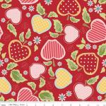 Patchworkstoff Quilt Stoff Apple of my Eye rot Apfel