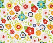 Patchworkstoff Quilt Stoff Riley Blake Lazy Day Blumen auf weiss