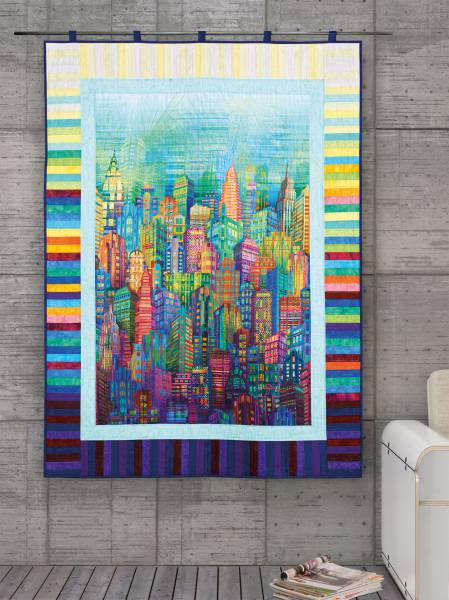 Materialpackung Wandquilt `City Lights` ca. 107x145cm
