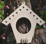 Dekoration, Holz TC1 Vogelhaus Rahmen mit Kreis