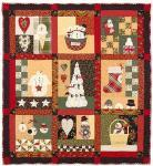 Nähanleitung `Snowman Country`  1,22m x 1,32m - Winter Quilt