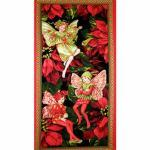 Patchworkstoff Fee, Elfe, Flower Fairy Panel Holiday, Christmas; 60x112cm