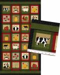 Patchworkstoff Quilt Stoff Folk Art Multi Blocks Bilder Panel 60cm x 110cm