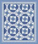Nähanleitung Quilt Symphony Rose blue von Lucy Fazely 76 x 88 Inch