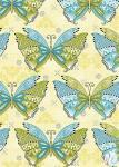 Patchworkstoff Quilt Stoff Boho Butterfly Schmetterlinge yellow multi gelb