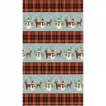 Patchworkstoff Quilt Stoff Christmas Snowman & Reindeer Border Streifen