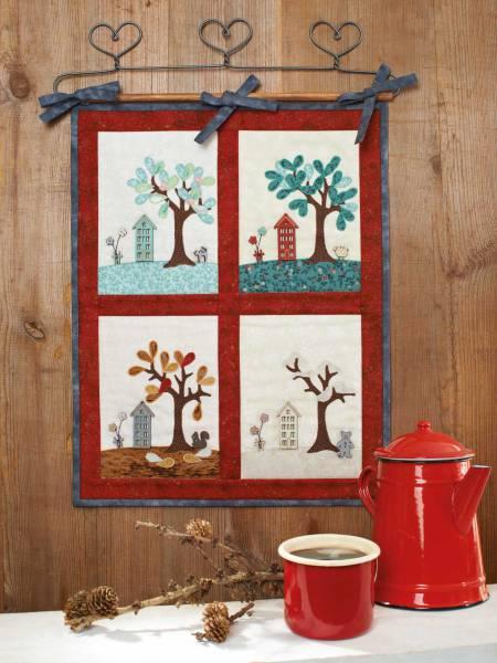 Materialpackung `Jahreszeiten` Wandquilt ca. 37 x 47cm