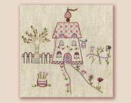 Stickbild Nr.435 Dans ma rue-N°8 ein Haus mit Garten