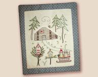 Stickbild Nr. 479 Quand l`hiver s`en mele -N°2 Winterlandschaft mit Haus