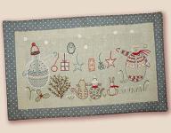 Stickbild Nr. 481 Quand l`hiver s`en mele -N°4 Winterszene