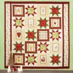 Materialpackung Quilt `Cozy Christmas` ca. 206 x 213 cm