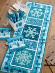 Materialpackung Tischdeko `Snowflakes` 1 Tischläufer , 12 Snack-Mats
