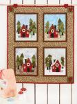 Materialpackung *Waldhaus* 56cm x 65cm Jahreszeiten-Quilt