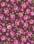 Patchworkstoff Quilt Stoff kleine Blumen purple