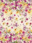 Patchworkstoff Quilt Stoff Blumen doppelte Border