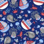 Patchworkstoff Quilt Stoff Kinder Maritim Anchors Away