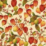Patchworkstoff Quilt Stoff Autumn Herbst Lampionblumen