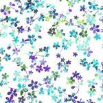 Patchworkstoff Quilt Stoff Watercolor kleine bunte Blumen  Meadow