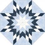 Nähanleitung Stern Sparkle Suede blau weiss