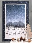 Materialpackung Wandquilt *Sternenklar* ca. 80 x 126cm Winternacht Rentiere