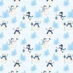 Patchworkstoff Stoff Serie *Welcome Winter* Schneemann blau weiss