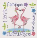 Patchwork Stoff Quilt Art Panel Flamingos