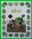 Materialpackung Wandquilt Monat *März* 28 x 33 cm