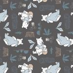 Patchworkstoff Quilt Stoff Dark Grey Disney Pooh Blankets & Honey