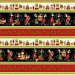 Patchworkstoff Quilt Stoff Black Border Stripe Christmas