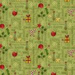 Patchworkstoff Quilt Stoff Green Christmas Words Print Christmas