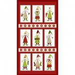 Patchworkstoff Quilt Stoff Panel Red Elf Panel Christmas
