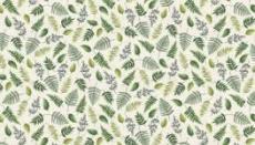 Patchworkstoff Quilt Stoff Fern Garden Leaf Scatter Cream