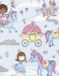 Patchworkstoff Stoff Quilt Fun Glitter Kingdom / Glitzer Königreich