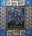 Materialpackung Quilt Tagesdecke *Jack Sparrow* ca. 1,30 x 1,50cm Pirates of the Caribbean