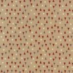 Patchworkstoff Quilt Stoff Herzen beige rot grau Weihnachten Skandinavien 706911L-12