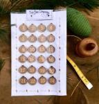 Knopf, Holzknopf NO10 Weihnachtskalender Zahlen