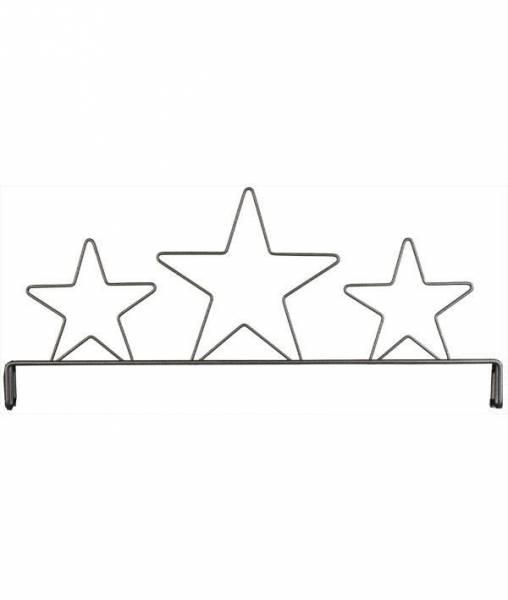 Dekobügel Aufsatz, Sterne 30,5 cm / 12 Inch 3-Star Header