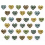 Knopf Packung `MM Hearts Earthtones`