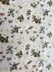 Patchworkstoff Quilt Panel Stoff Frühlingsstoff mit Schmetterlingen, Blumen und dezentem Gold verziert