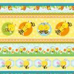 Patchworkstoff Quilt Stoff *Busy Bees* Streifenstoff