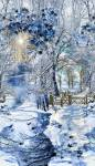 Patchworkstoff Quilt Stoff Winter Snowfall Scenic Panel 60x110 cm