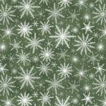 Patchworkstoff Quilt *Holiday Wishes* Schneeflocken auf grün
