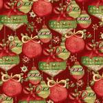 Patchworkstoff Quilt Stoff *Believe in the Season* Weihnachtskugeln auf rot