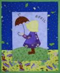 Materialpackung Wandquilt Monat *April* 28 x 33 cm