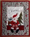 Materialpackung Wandquilt Monat *Dezember* 28 x 33 cm
