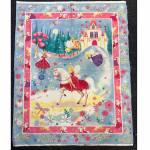 Patchworkstoff Quilt Panel *Fairy Castle*  90x110cm Feen, Einhorn