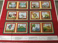 Patchworkstoff Quilt Panel *When i am Big*  90x110cm Quadrate