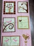 Patchworkstoff Quilt Panel *Chirp!*  60x110cm Süße Vögelchen