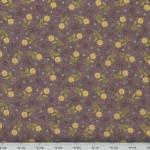 Patchworkstoff Quilt *My Back Porch* Blumen auf braunem Hintergrund